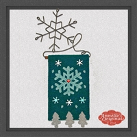 "Mini ""Snowflake"" (Turquoise) Candle Mat"