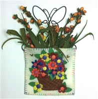 Mini-Me Bright Flower Basket Candle Mat