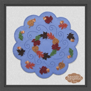 Falling A-Round Candle Mat