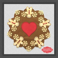 Ginger Friends Round Candle Mat Penny Rug