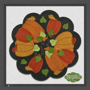Pumpkin Patch Candle Mat Penny Rug