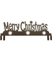 "12"" Bronze Merry Christmas Topper"