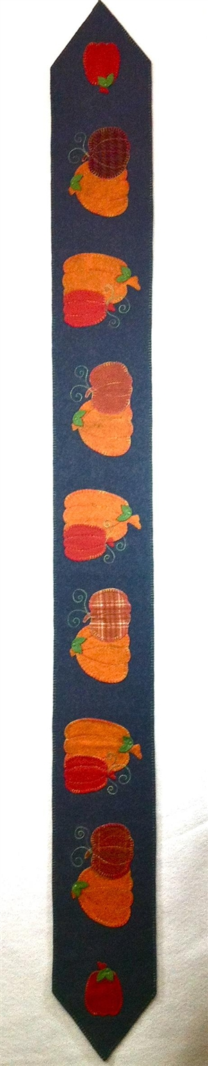 Pumpkin Harvest Table Scarf Wool Felt Kit