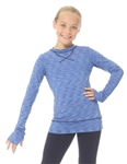 Blue/Royal Strata Thermal Skating Shirt - Mondor 4501