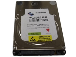 "White Label 250GB 8MB Cache 5400RPM SATA 3.0Gb/s 2.5"" Notebook Hard Drive w/1-Year Warranty"