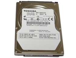 Toshiba (MK1665GSX) 160GB 8MB Cache 5400RPM SATA 3.0Gbps Notebook Hard Drive - New with 1 Year Warranty