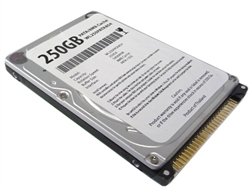 "White Label 250GB 8MB Cache 5400RPM PATA (IDE) 2.5"" Notebook Hard Drive w/1-Year Warranty"