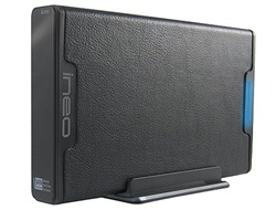 INeo I-NA306UE 1.5TB 32MB Cache 7200RPM USB 2.0 & eSATA Leatherette External Hard Drive - Retail w/1 Year Warranty