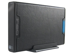 iNeo I-NA306UE 3.5inch SATA to USB & eSATA tool-less Leatherette External Hard Drive Enclosure - Retail