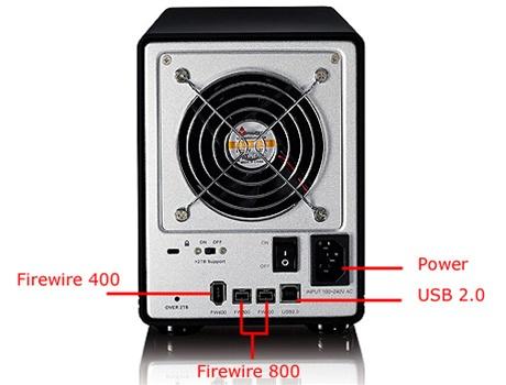 Galaxy 4TB (4 Terabyte) Firewire 800, 400 & USB 2.0 Quad Bay RAID 0 ...