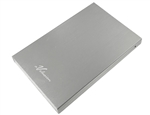 "Avolusion HD250U2 Ultra Slim 2.5"" SATA to USB 2.0 External Hard Drive Enclosure (Chrome) (for 2.5"" SSD & SATA Hard Drive) - 2 Year Warranty"