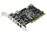 Avolusion GP-PCI-6U3F USB 2.0 & FireWire PCI controller card - Retail w/ 1 year warranty