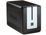 D-Link DNS-323 2-Bay Gigabit RAID 0 / 1 Network Attached Storage (NAS) Enclosure w/ FTP, UPnP, Print Server- Retail