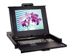 iStarUSA WL-21508 1U Rackmount 15 inch TFT LCD Keyboard Drawer with Built-in 8-port KVM