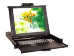 iStarUSA WL-21708 1U Rackmount 17 inch TFT LCD Keyboard Drawer with Built-in 8-port KVM