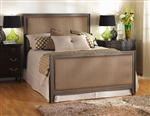 Avery Upholstered Iron Bed by Wesley Allen