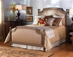 Garnett Upholstered Iron Bed by Wesley Allen