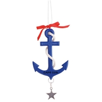 The perfect nautical Cape Cod ornament | Cape Cod Navy Anchor Ornament