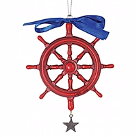 This is the perfect nautical Cape Cod ornament for my passion for sailing | Ships Wheel Christmas Ornament