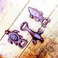 Sealife Cast Iron Bottle Opener: Turtle, Seal, Cod | LaBelle's General Store