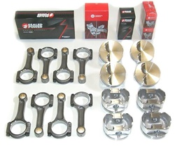 LSX Chevy Piston and Rod Kit with 4340 H beam rods