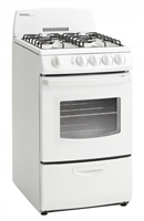 "Danby 2.4 cu.ft. 20"" Electric Range w/Window - White"