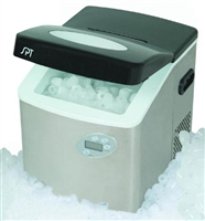 Sunpentown Stainless Steel Portable Ice Maker with Digital Controls