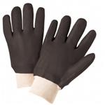 West Chester Black PVC Coated Gloves with Knit Wrist