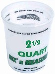Plastic Mix & Measure 2-1/2 Quart Container
