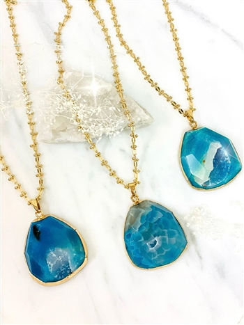 Blu Slice Necklace