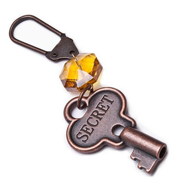 Jewel Tone Secret Keychain