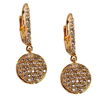 Pave Drop Earring