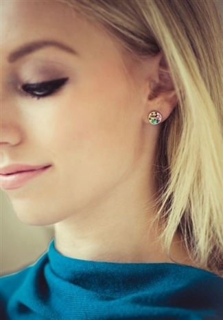 Pave Stud Earring