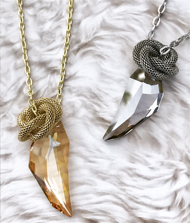 Pegasus Crystal Knot Necklace