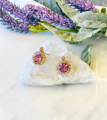 Prism lavender Post Earring