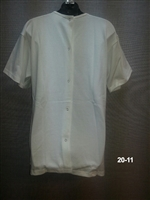(20-11) Back Snap Short Sleeve Undershirt