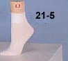 (21-5) Ladies Anklet Sock - White