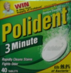 Polident 3 Minute Antibacterial Denture Cleanser 40 Tablets