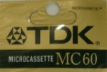 TDK Micro Cassette MC60 For Telephone Answering Machines