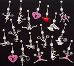 Cheerleader Dangle Belly Ring