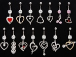 Heart Dangle Belly Ring