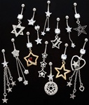 Star Dangle Belly Ring