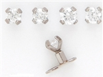 Tiny Prong Set CZ Dermal Top