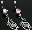 Tulip Dangle Belly Ring