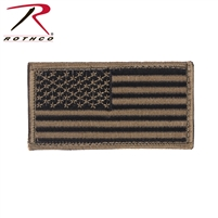 Rothco American Flag Patch - Black / Khaki