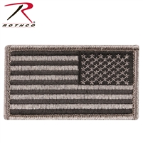 Rothco Reverse American Flag Patch - Khaki / Black