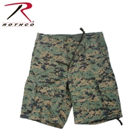 Rothco Vintage Camo Infantry Utility Shorts - Woodland Digital - 3Xl