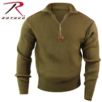 Rothco Quarter Zip Acrylic Commando Sweater - Olive