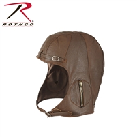 Rothco WWII Style Leather Pilot's Helmet - Medium / Large