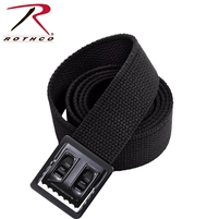 Rothco Open Face Web Belt 54 Inch Black/Black